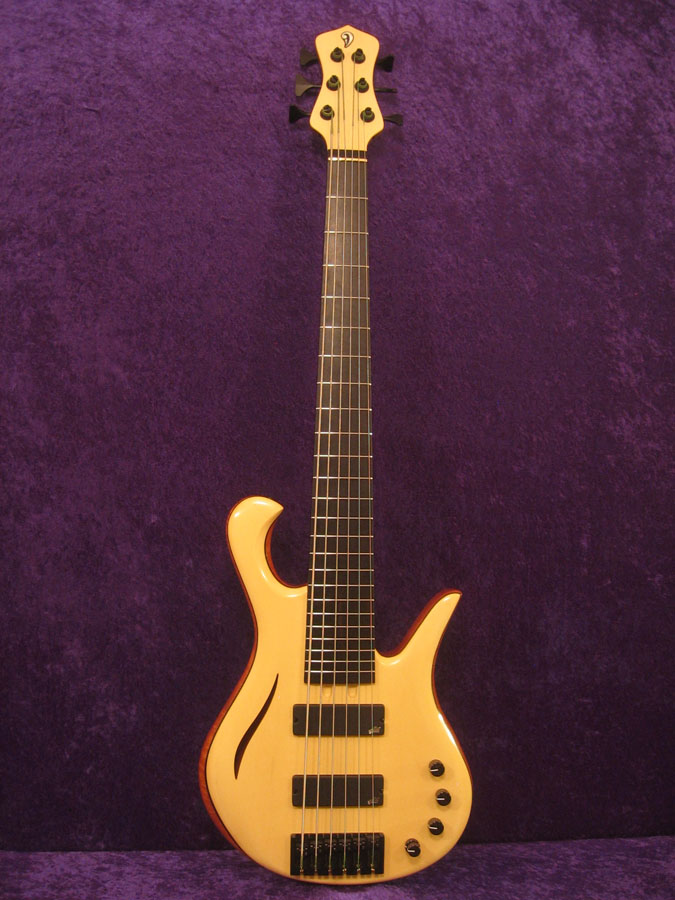 Mod 7 Semi-Hollow 6 String Bass