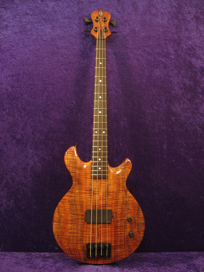 Short Scale 4 string bass guitar